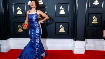 Artist Joy Villa Supports President Trump at the Grammy Awards