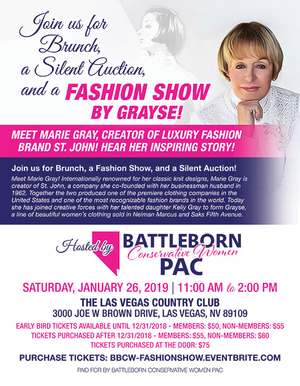 Battleborn Conservative Women PAC - Brunch and Fashion Show @ The Las Vegas Country Club