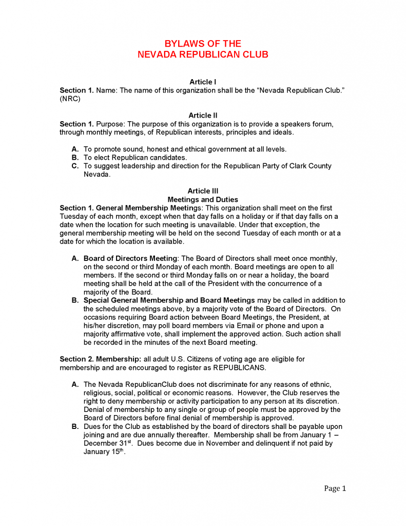 NRMC - Bylaws 2.5.2019 - Page 1