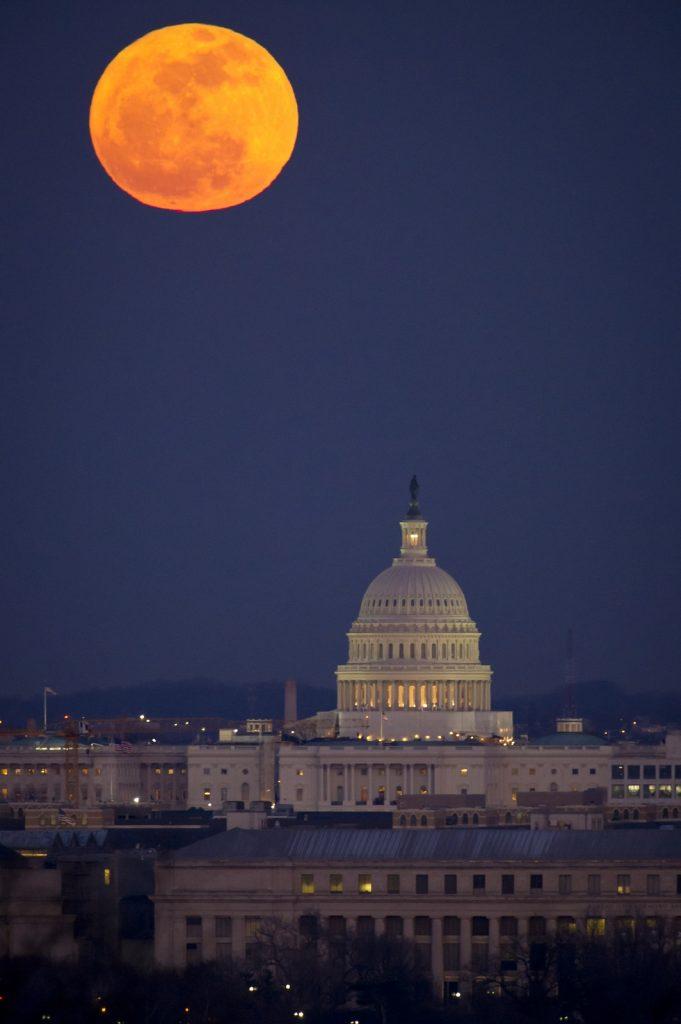 Moon above capital