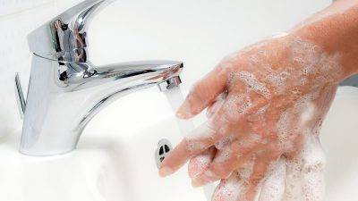 Avoiding Coronavirus about Washing Hands, Not Wearing Gloves