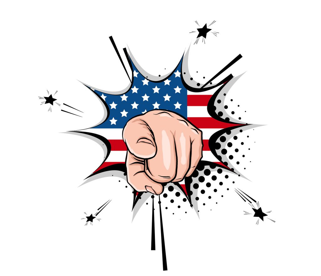 Uncle Sam's hand