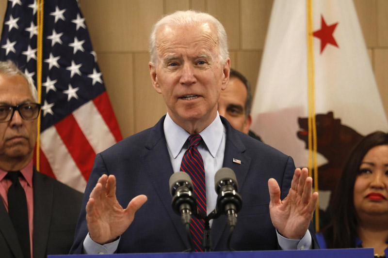 Joe Biden at a Press Conference