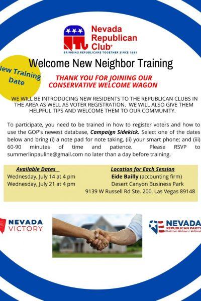 New Neighbor Training
