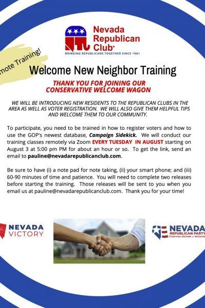 Training of New Neighbor