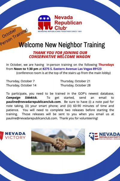 October Training Flyer